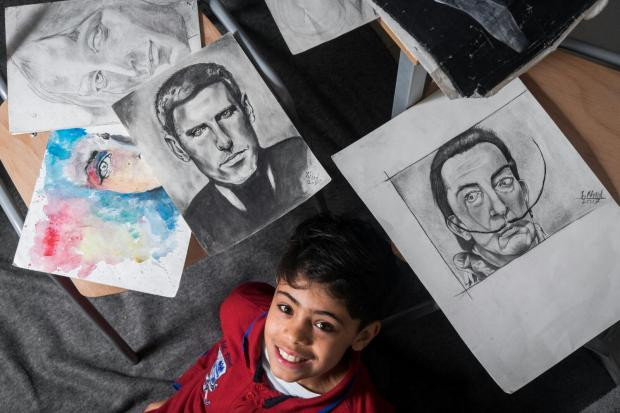 Refugee dubbed 'the little Picasso' to hold first art exhibition – to raise money for sick Serbian boy | The Independent
